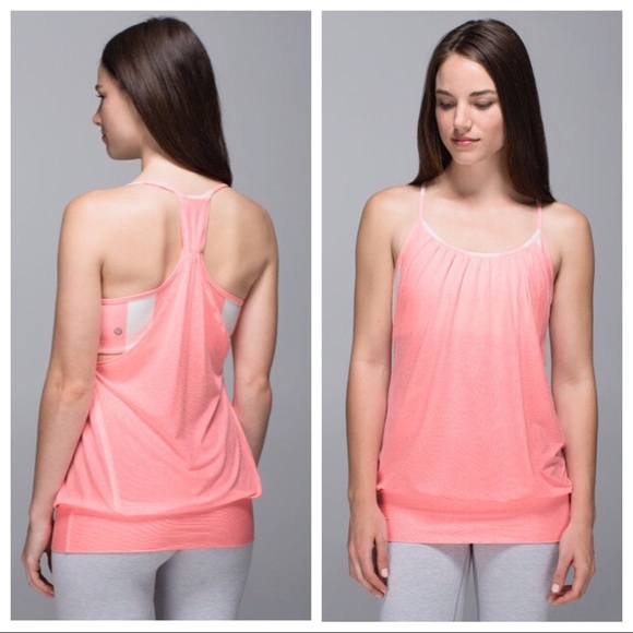 961f6b906f614 lululemon athletica Tops - Lululemon No Limits Tank Pink Peach Racerback